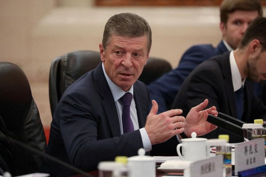 In a photo taken on Sept 6, 2019, Russia's deputy prime minister Dmitry Kozak in a meeting with Chinese officials at the Great Hall Of The People in Beijing.
