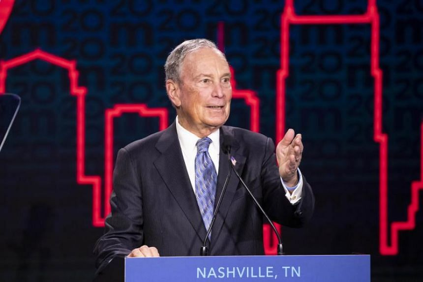 Democratic presidential candidate and former New York City Mayor Michael Bloomberg delivers remarks during a campaign rally on Feb 12, 2020 in Nashville, Tennessee.