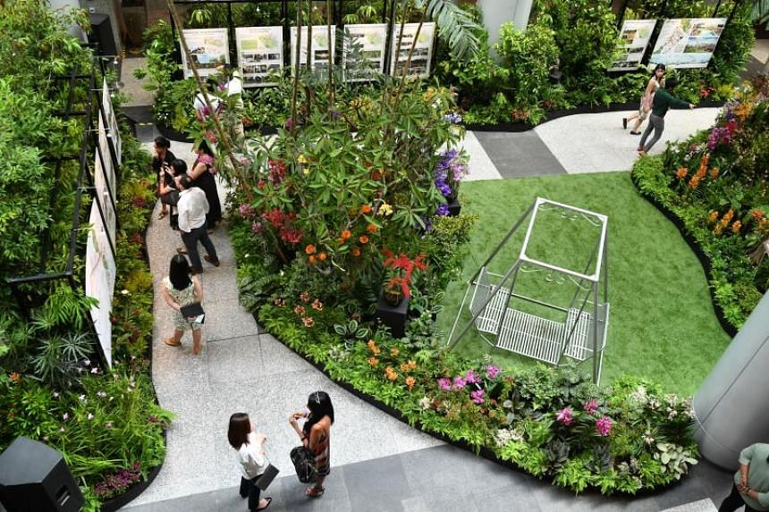 The National Parks Board and the Urban Redevelopment Authority proposed enhancements to refresh Singapore's shopping belt at an exhibition at The URA Centre on Feb 13, 2020.