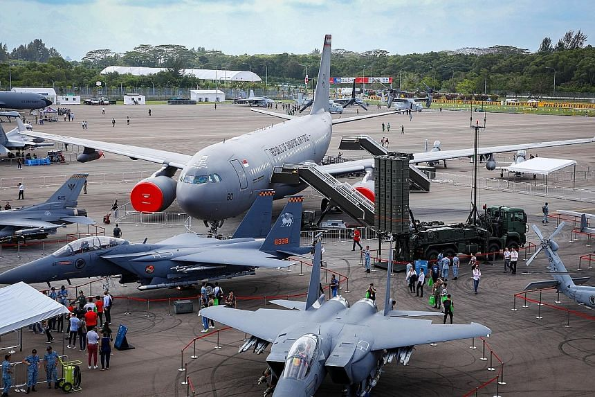 The expandable aircraft lavatory would fit an on-flight wheelchair and has user-friendly features such as grab bars and a lower-than-usual sink. The static display at the airshow featuring the debut of Republic of Singapore Air Force aircraft like th