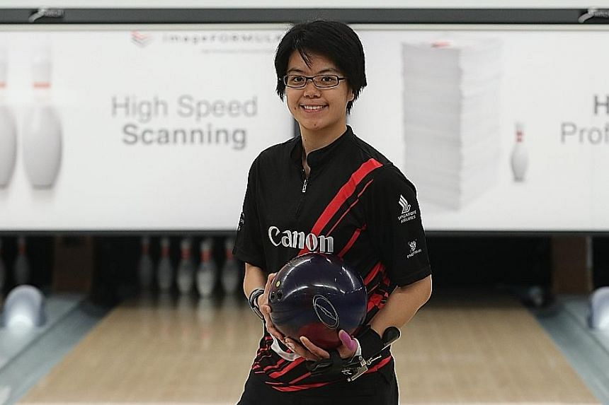 Changes that Cherie Tan made to her game in 2018 did not immediately bear fruit but the determined and focused bowler plugged on - ironing out minor details in her game - and this led to her multiple successes. ST PHOTO: TIMOTHY DAVID