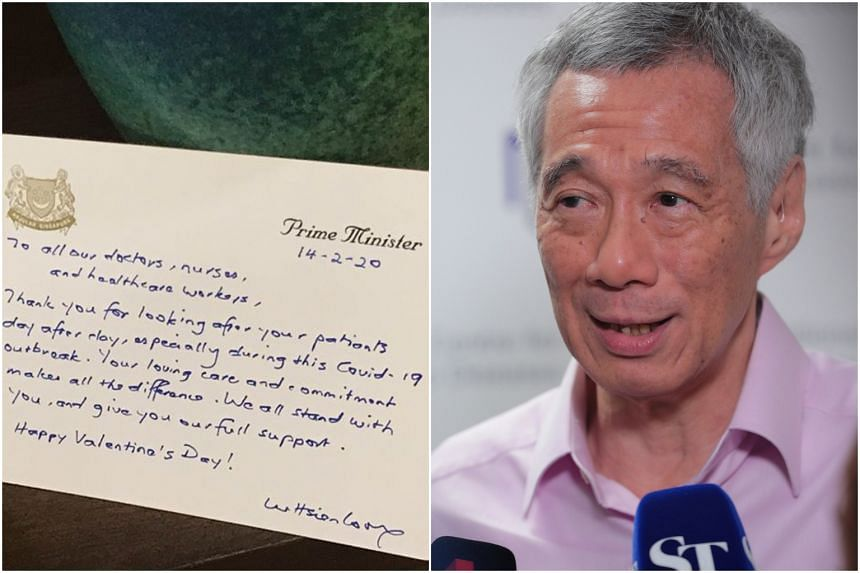 """""""Your loving care and commitment makes all the difference,"""" said Prime Minister Lee Hsien Loong in a Valentine's Day note."""
