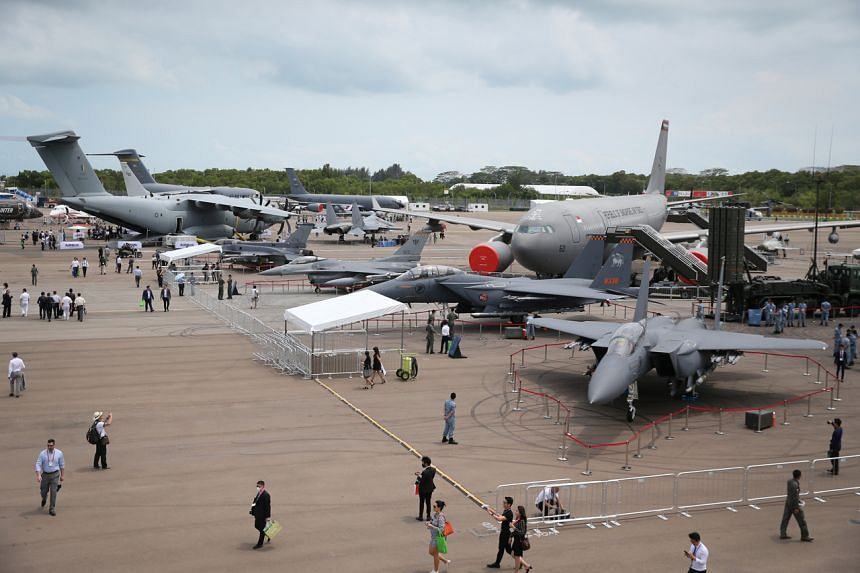 The static display at Singapore Airshow, on Feb 12, 2020.