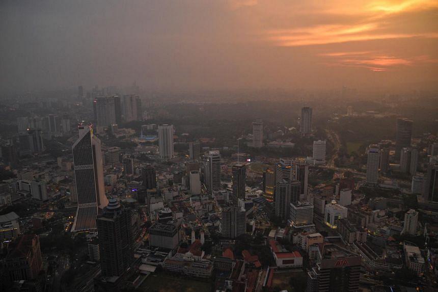 The skyline of Kuala Lumpur seen in a photo taken on March 11, 2019.