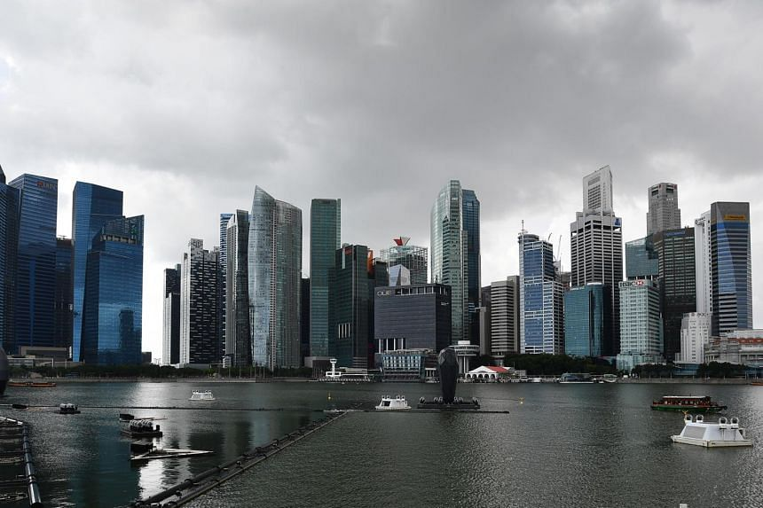 Singapore's central business district seen in a photo taken on Jan 3, 2020.