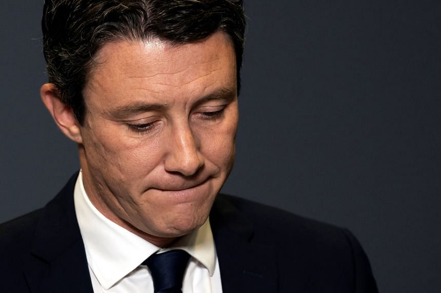Former government spokesperson and La Republique en Marche candidate Benjamin Griveaux announces his withdrawal from the race for the upcoming Paris 2020 mayoral election in Paris, on Feb 14, 2020.