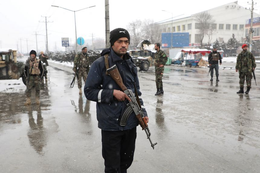 Afghan security forces are seen in Kabul, Afghanistan, on Feb 11, 2020. Afghan, Taleban and US sources said a peace deal could be signed this month.