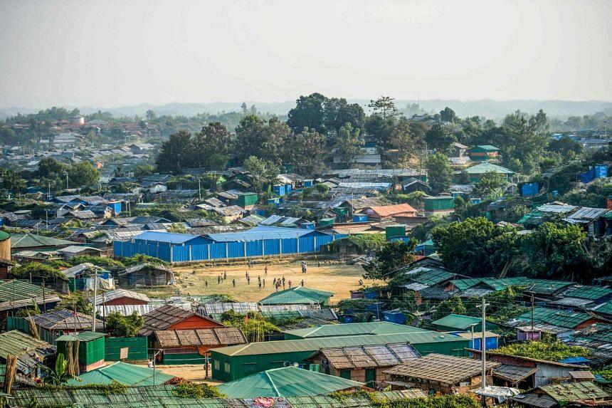 The Jamtoli refugee camp in Ukhia in Cox's Bazar, Bangladesh.