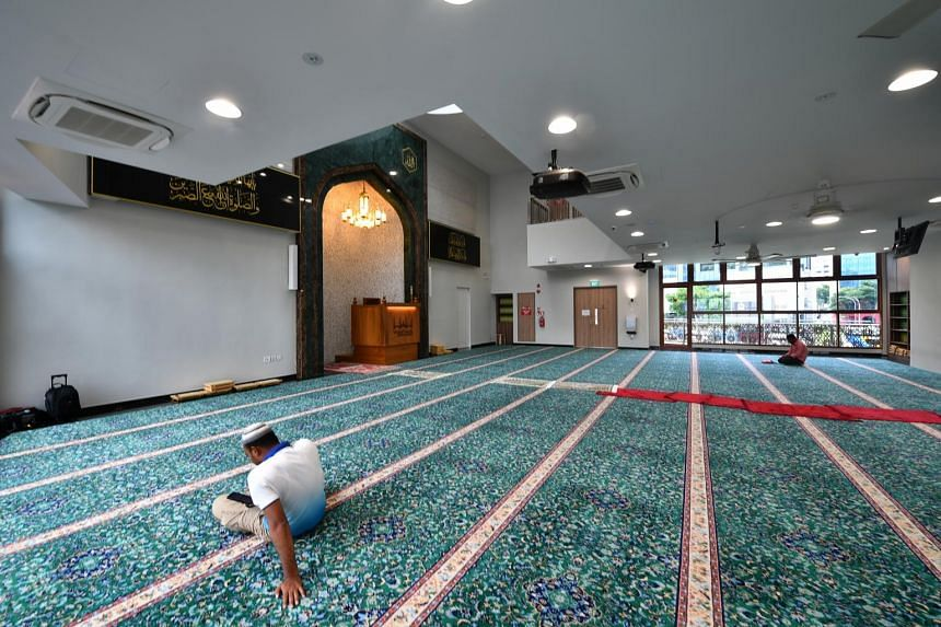 The upgraded Angullia Mosque now has an air conditioned main prayer hall.