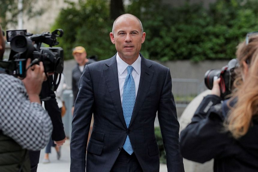 Avenatti exits the courthouse in New York City, in October 2019.