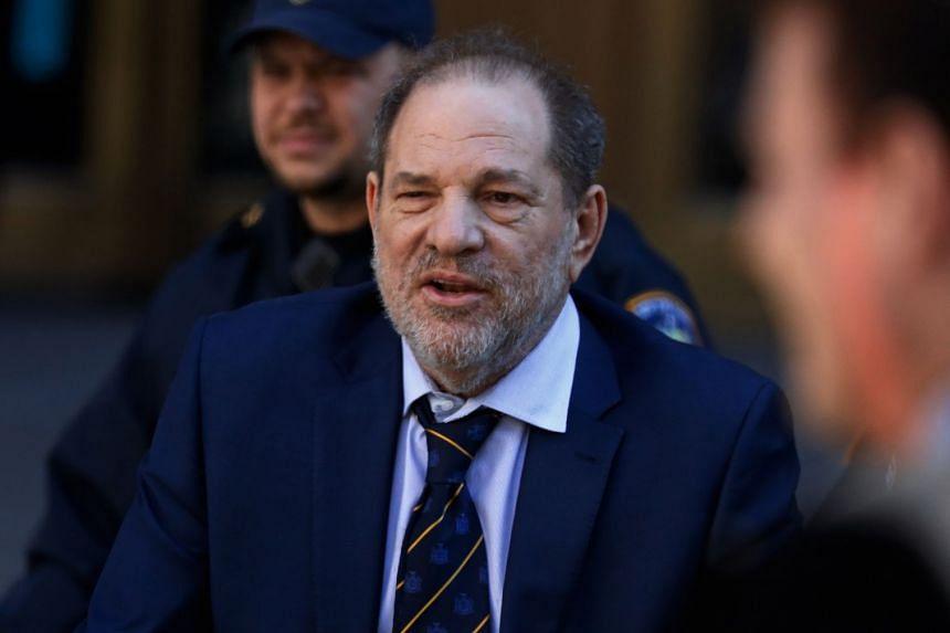 Weinstein departs the state supreme court in New York, on Feb 14, 2020.
