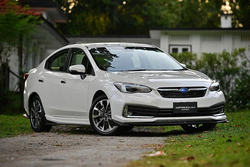 The Subaru Impreza's steering is sharp and responsive. The car handles well, delivering a fuss-free drive.