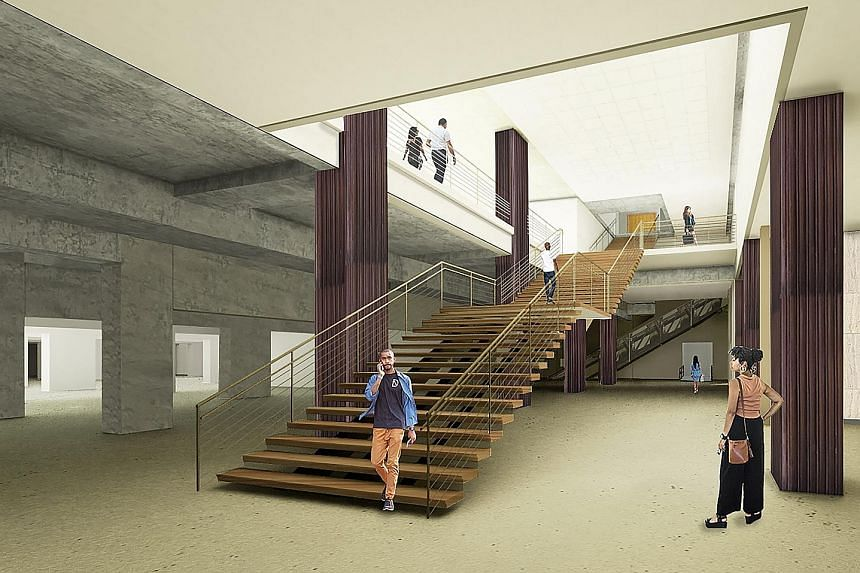 A rendering of the new lobby of the Post-Dispatch building, which will become a home for the mobile-payments company Square.