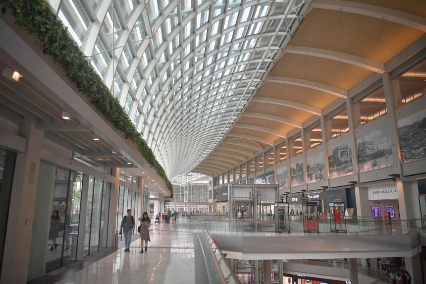 A view of the Marina Bay Sands mall interior on Feb 2, 2020.