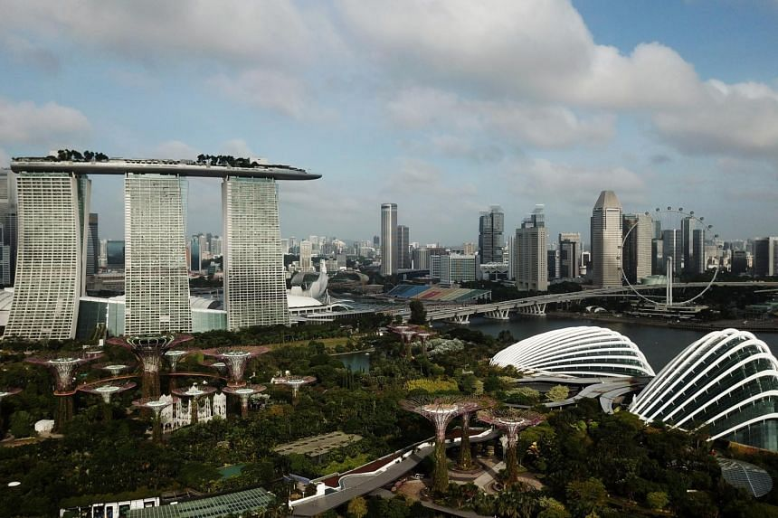 A view of the Singapore skyline on Jan 3, 2020.