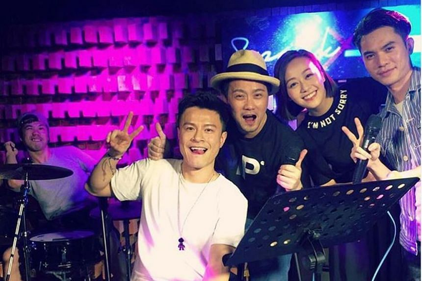 Musician Lai Man Wang (far left) is rumoured to be the new love of TVB actress Jacqueline Wong (above).