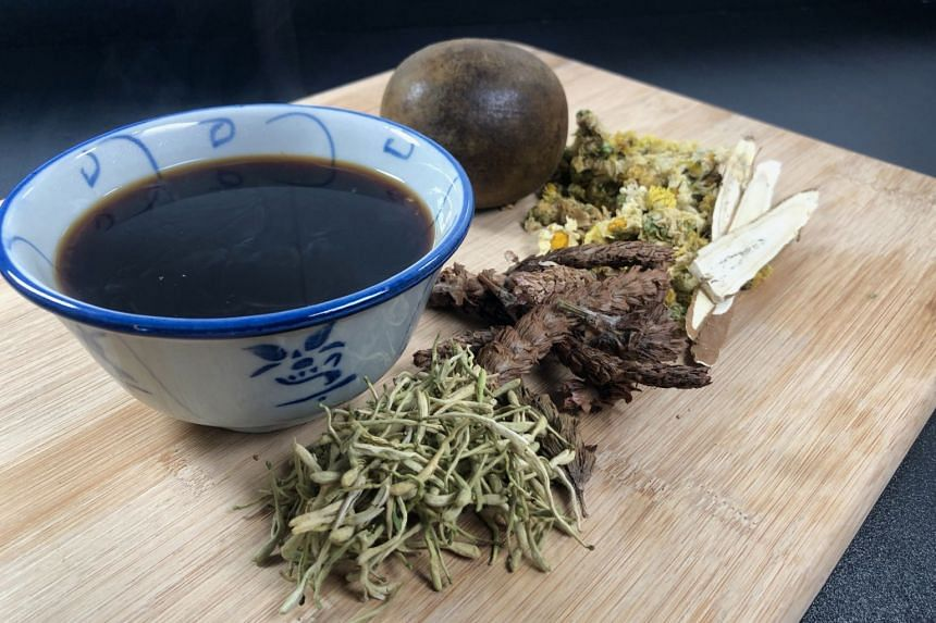 Detox And Immunity-boosting Tea, which contains jin yin hua and pu gong ying (dandelion).