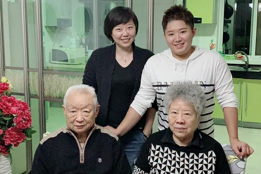 Former national swimmer Tao Li (top right) with her cousin and grandparents while celebrating Chinese New Year in Wuhan.