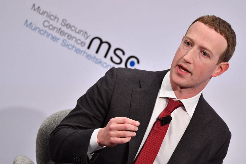"Mark Zuckerberg speaks during a conversation session ""Learn Fast and Fix Things: Social Media and Democracy"" at the 56th Munich Security Conference."