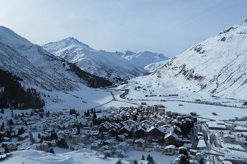 The town of Andermatt is nestled in the Swiss Alps, about 1,400m above sea level.