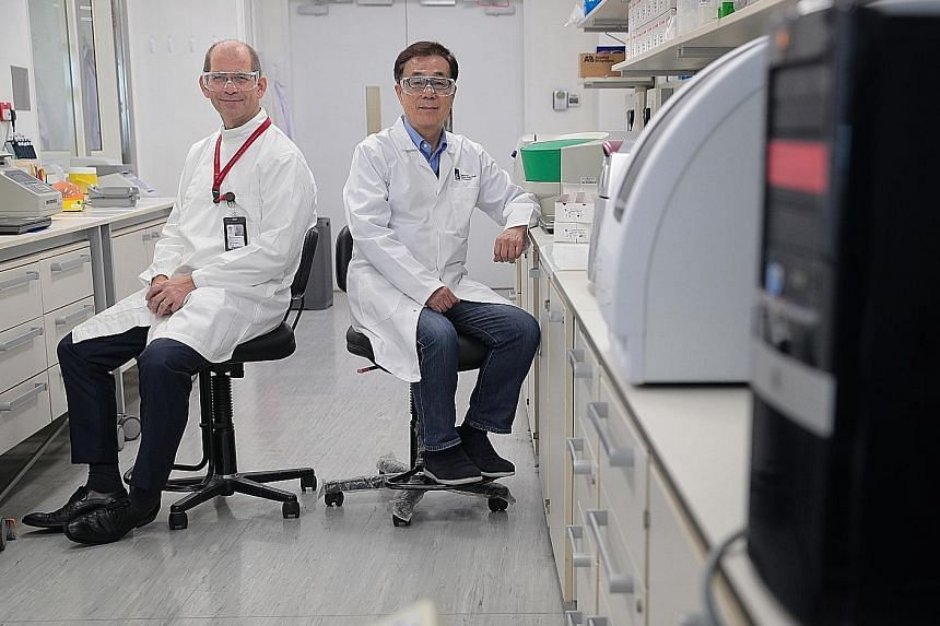 Dr Timothy Barkham from Tan Tock Seng Hospital and Dr Masafumi Inoue from the Agency for Science, Technology and Research worked with other scientists to develop a test kit to diagnose infections with high accuracy.