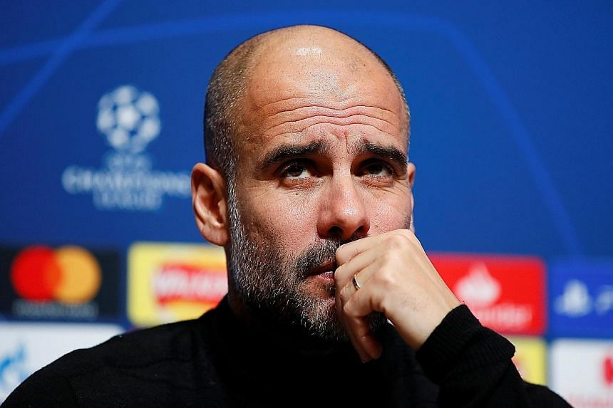 The thoughts of Manchester City manager Pep Guardiola might take more than an FFP-cleared penny to uncover, with his future after this season hanging in the balance. PHOTO: REUTERS