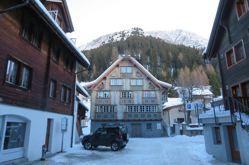 The Old Town part of Andermatt consists of wooden Walser-style houses.