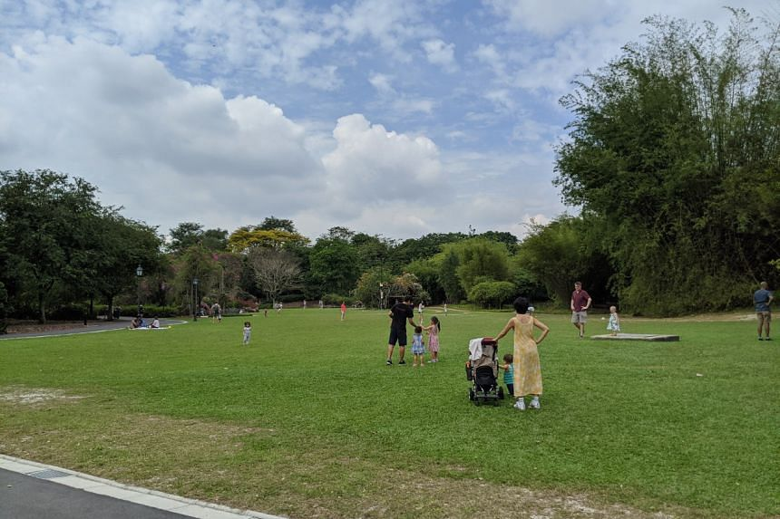 People enjoying a day out at the Botanic Gardens, on Feb 16, 2020.