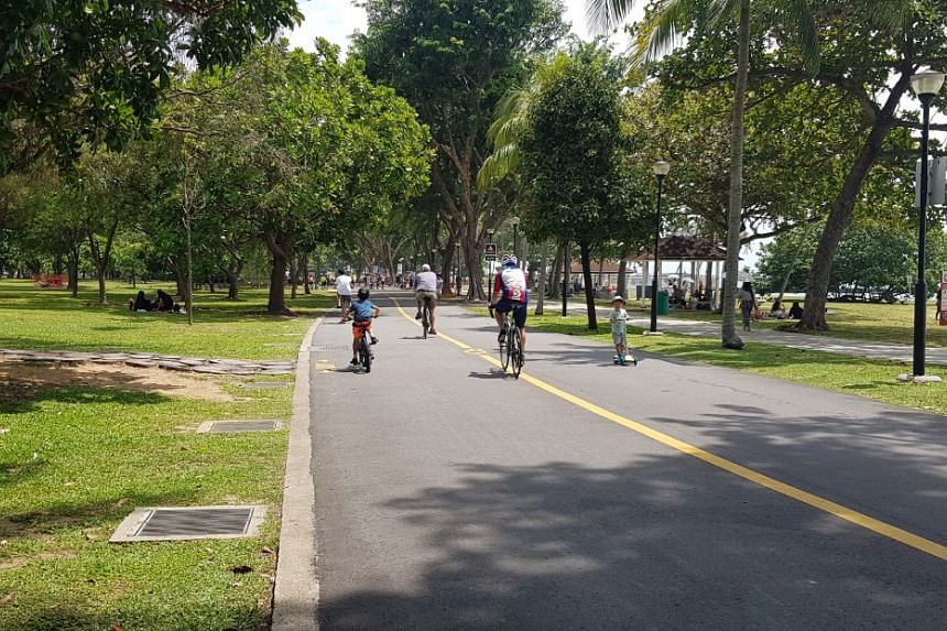 People cycling at East Coast Park on Feb 16, 2020.