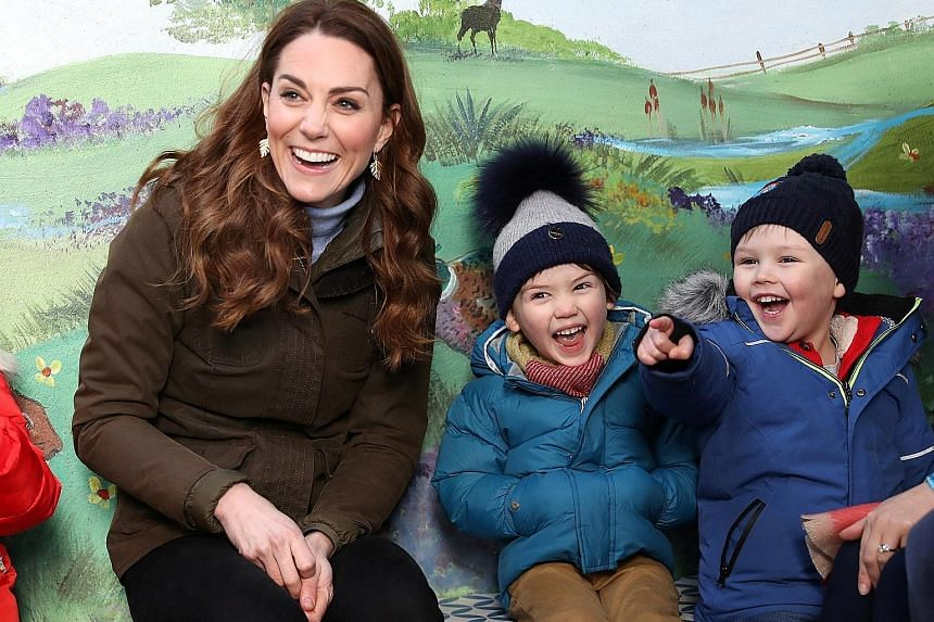 Kate Middleton, Duchess of Cambridge, on a visit to Ark Open Farm in Newtownards, Northern Ireland, earlier this month.