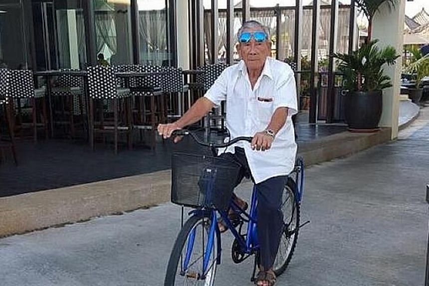 Elderly cyclist Peh Seng Yap was killed in a hit-and-run accident in Tampines, on Aug 13, 2019.