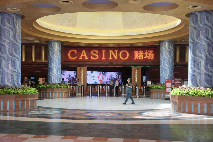 A photo of the casino at the Resorts World Sentosa on Feb 12, 2020.