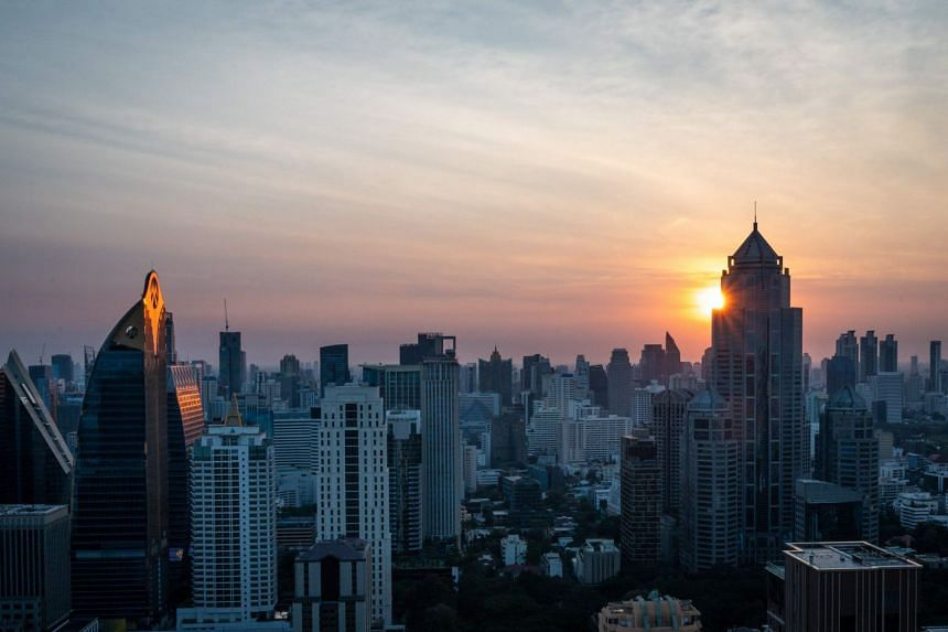 A view of the skyline of Bangkok during the first sunrise of the new decade, on Jan 1, 2020.