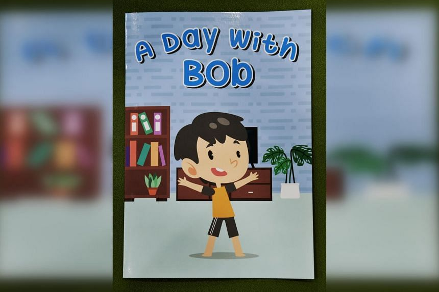 Replete with stickers and lift-the-flap pages, the comic book A Day With Bob is designed in an interactive manner for children.