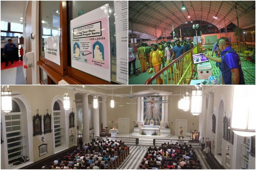 Muslims attending prayers at mosques have been encouraged to take their own mats, while thermal scanners were set up for the Thaipusam procession earlier this month. Public mass for Roman Catholics here have also been suspended indefinitely.