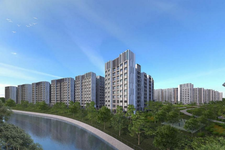 There were more than 10 applicants vying for each of the 266 five-room and three-generation flats in Canberra Vista (above), a project in Sembawang located next to the Canberra MRT station.