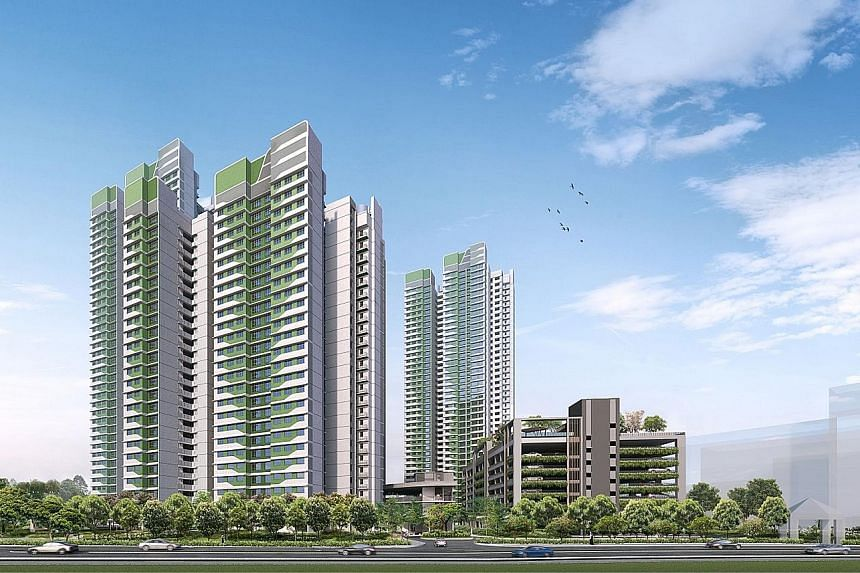 Clockwise from top left: Canberra Vista in Sembawang, and Kim Keat Ripples and Toa Payoh Ridge in Toa Payoh. The HDB launched 3,095 Build-To-Order flats for sale last Tuesday.