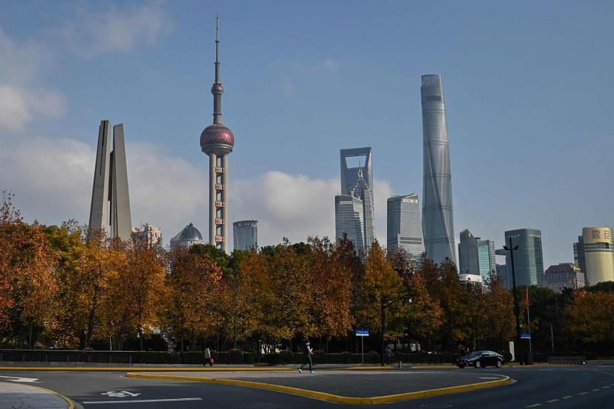 A view of Lujiazui financial district skyline in Shanghai, on Dec 16, 2019.