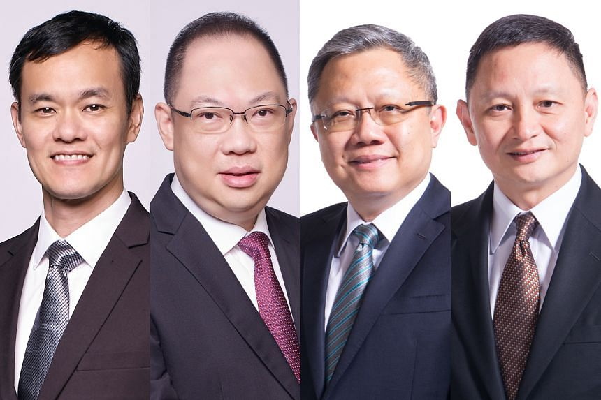 From left: Current Scoot CEO Lee Lik Hsin will be promoted to SIA's executive vice-president (commercial), while senior vice-president (marketing planning) Tan Kai Ping will be executive vice-president (finance and strategy) and executive vice-presid