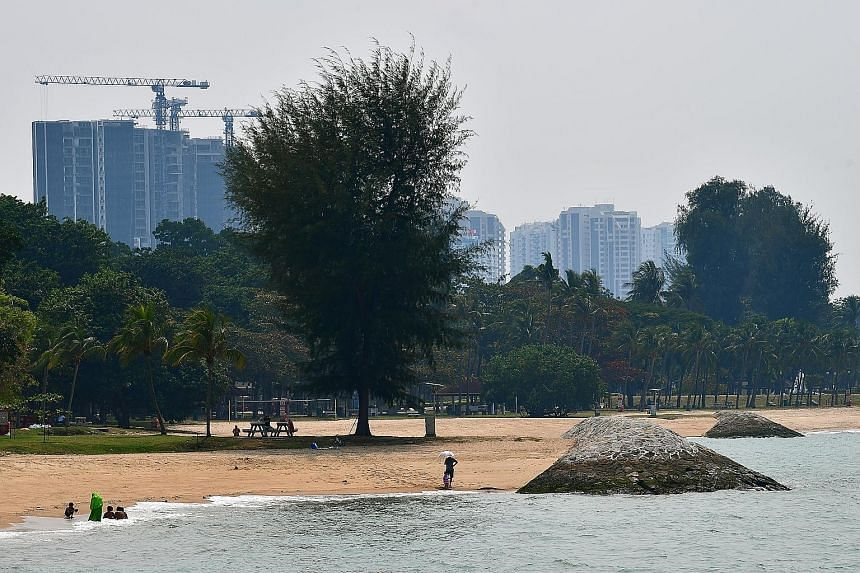 Breakwaters made of stone and concrete at East Coast Park to protect the sandy beach and reclaimed shore from strong waves and erosion. The authorities had earlier said Singapore will be considering a range of options, including engineering feats suc