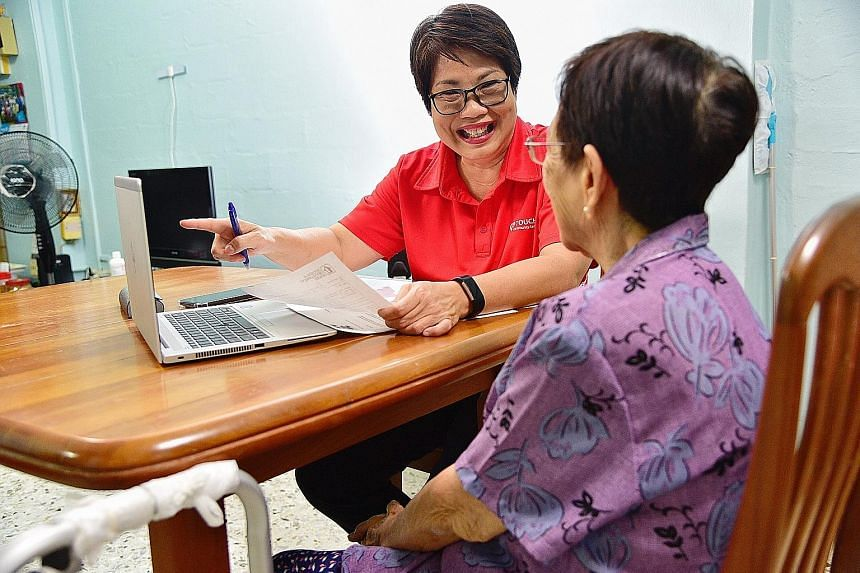 Ms Julia Lee of Touch Professional Deputies and Donees was hired by 80-year-old Mary (in purple) to act as her professional donee and make decisions on her behalf if she were to lose her mental capacity. These decisions could include arrangements for