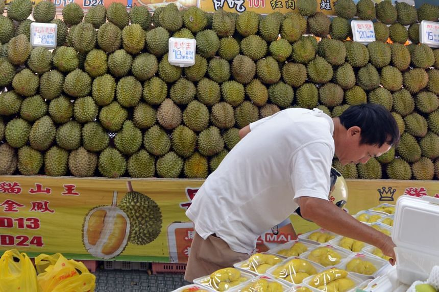 According to a durian trader in Penang, 1kg of musang king is now priced between RM24 and RM33 (S$8-$11) instead of RM55.