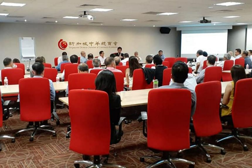 A 25-minute recording of Mr Chan Chun Sing's remarks during the meeting on Feb 10, 2020, was circulated widely on social media and messaging apps like WhatsApp.