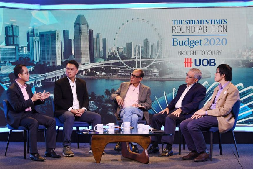 United Overseas Bank senior economist Alvin Liew, Labour MP and National Trades Union Congress assistant secretary-general Patrick Tay, ST associate editor Vikram Khanna, Singapore Business Federation chief executive Ho Meng Kit and Nominated MP Walt