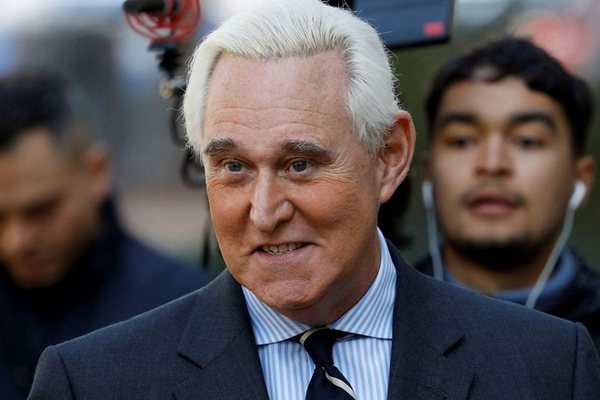 Stone arrives for his criminal trial on charges of lying to Congress, obstructing justice and witness tampering in November 2019.