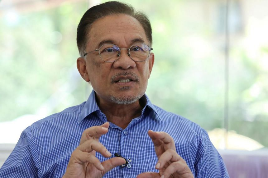 Malaysia's politician Anwar Ibrahim speaks during an interview with Reuters in Petaling Jaya, Malaysia, on Feb 6, 2020.