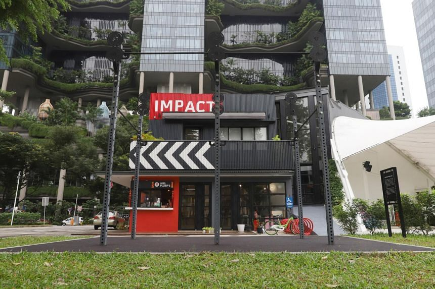 ImPAct@Hong Lim Green at 20 Upper Pickering Street. The community club was officially launched last year after about 14 months of reconstruction.