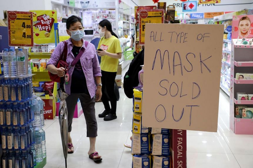 Suppliers said most suppliers in Malaysia import face masks from China and they could not get supplies now due to a shortage in China itself.