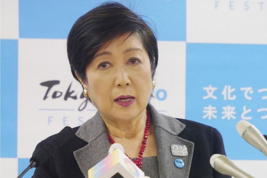 In rare undiplomatic comments, Tokyo governor Yuriko Koike (above) blasted London mayoral candidate Shaun Bailey's offer to host this year's Olympics due to the coronavirus epidemic affecting Japan.