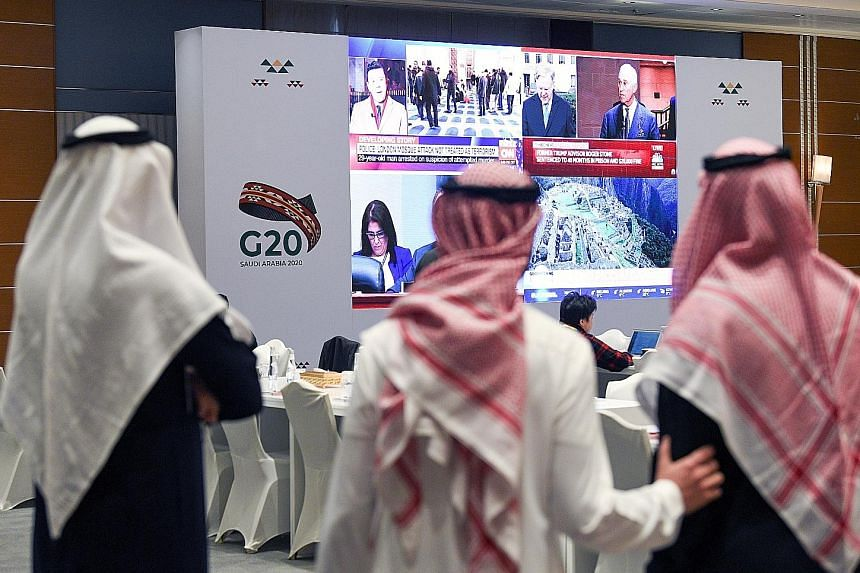 Finance chiefs from the world's 20 biggest economies will meet this weekend in Riyadh, Saudi Arabia, for the first time since the coronavirus outbreak. Slumping activity will add to pressure on governments and central banks to respond with more suppo